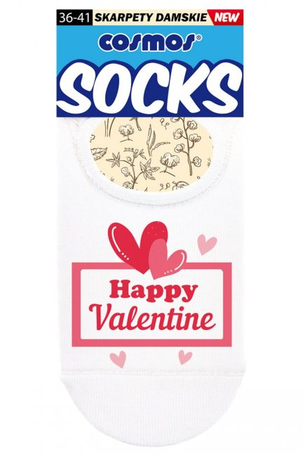 Stopki damskie baletki Happy Valentine