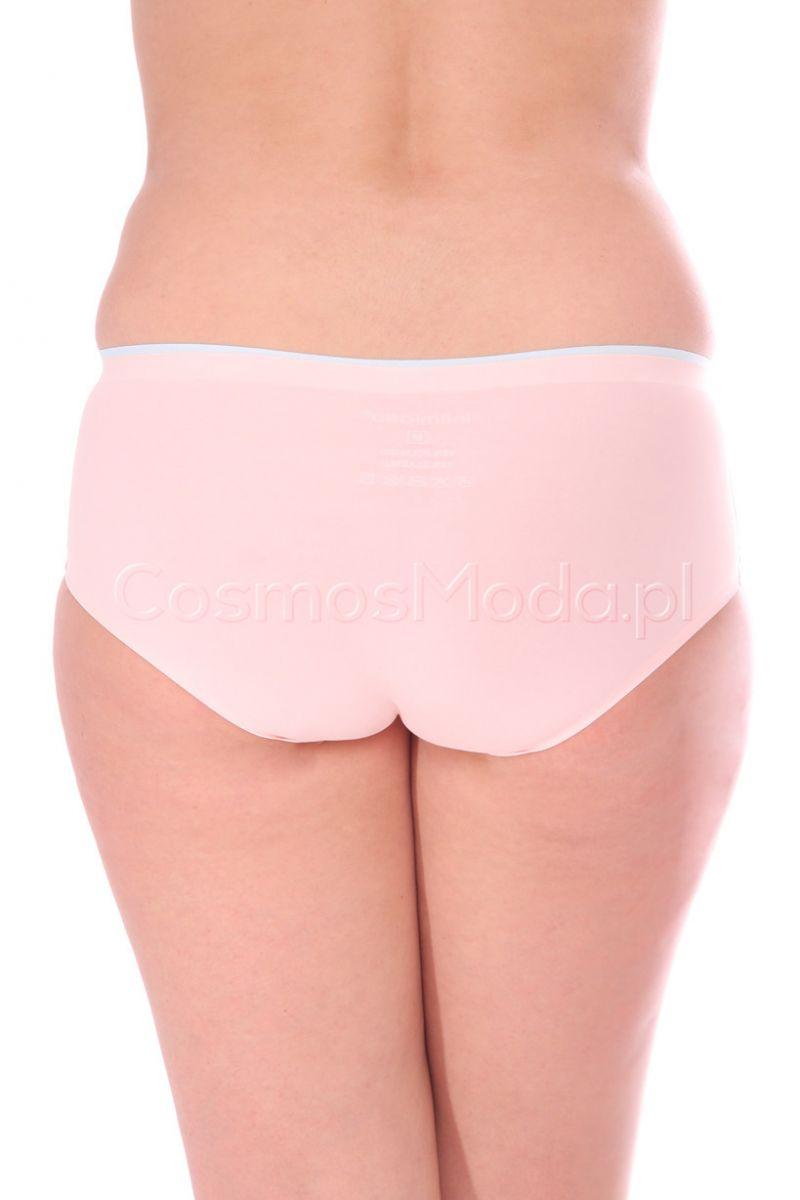 f37b34e7568517 Figi damskie dopasowane CMK0306 różowe modne majtki sklep CosmosModa