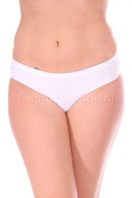 Figi damskie gładkie CMK8005 białe