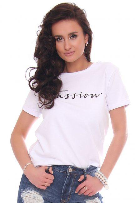 Bluzka modna T-shirt z napisem Passion