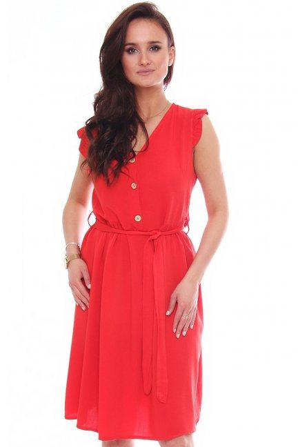 Sukienka modna przed kolano czerwona