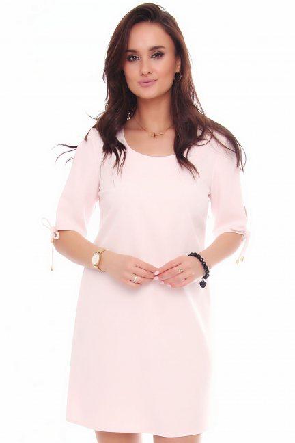 Sukienka trapezowa CMK521 różowa