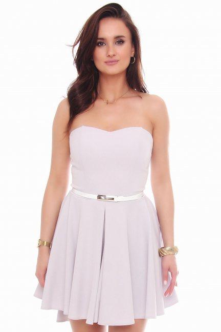 Sukienka mini z dłuższym tyłem szara