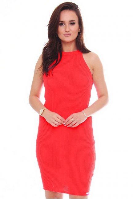 Sukienka damska dopasowana czerwona