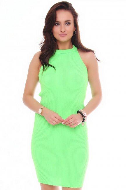 Sukienka damska dopasowana zielona