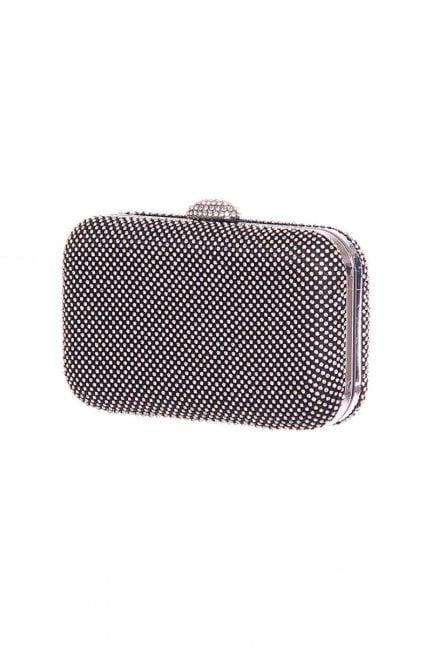 Torebka elegancka cekiny CMT46 czarna