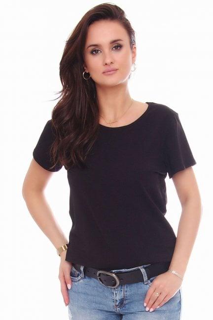 T-shirt bawełniany gładki koszulka czarny