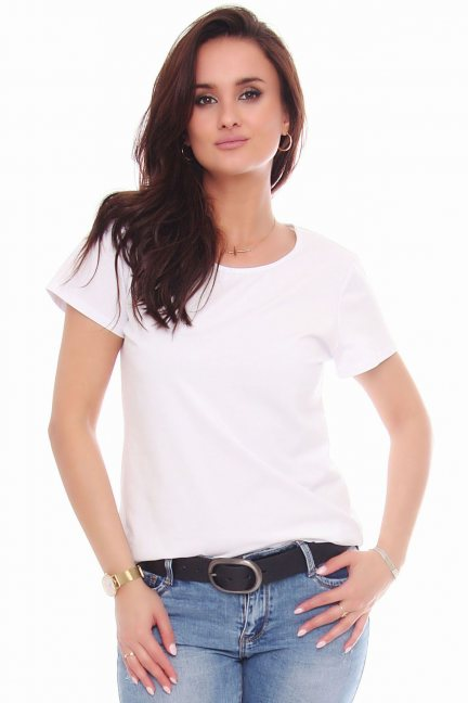 T-shirt bawełniany gładki koszulka biały