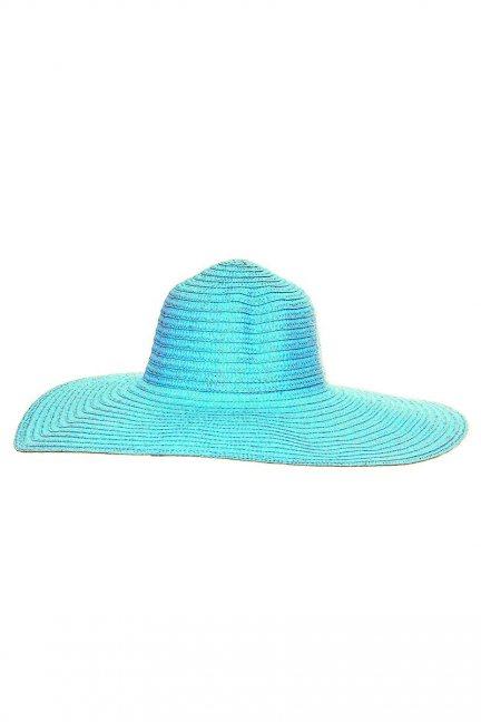 Kapelusz damski letni plażowy turkusowy