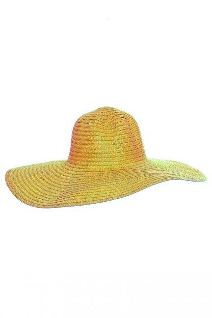 Kapelusz damski letni plażowy żółty