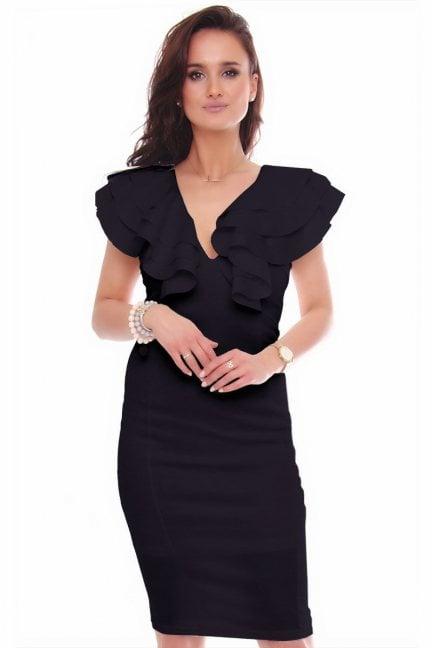 Sukienka elegancka midi ołówkowa czarna