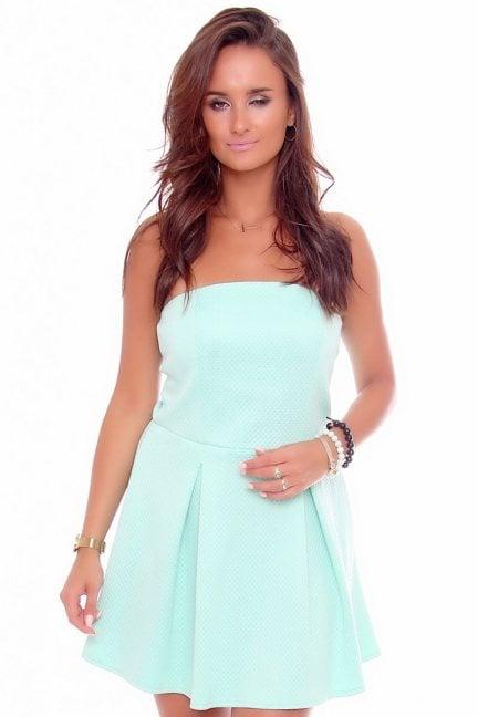 Sukienka mini gorset z pianki CM301 miętowa
