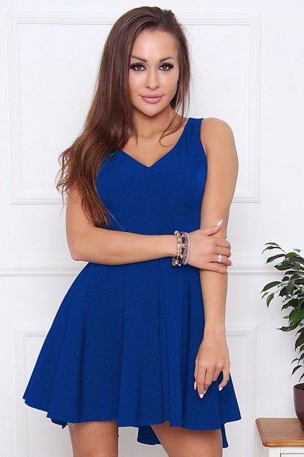 Sukienka damska na ramiączka chabrowa