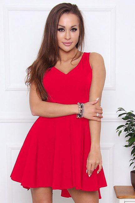 Sukienka damska na ramiączka czerwona