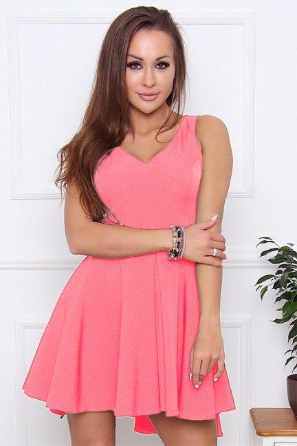 Sukienka damska na ramiączka różowa