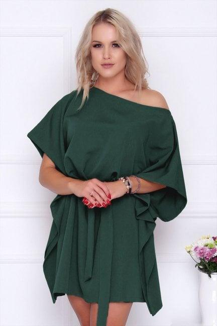 Sukienka wizytowa nietoperz zielona