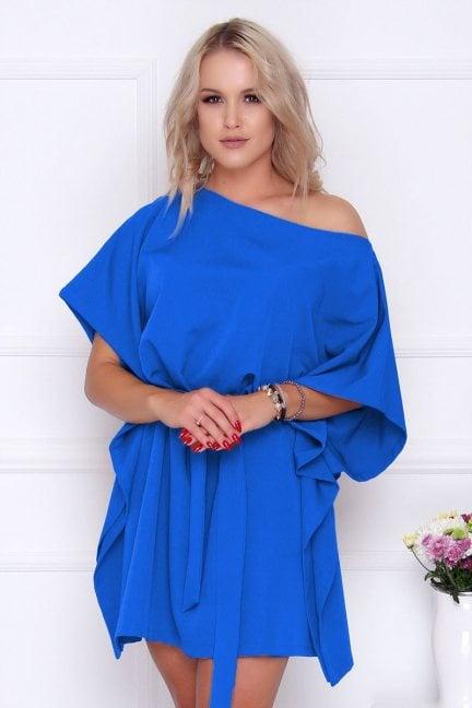 Sukienka wizytowa nietoperz niebieska