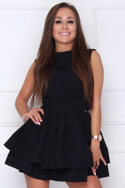 Sukienka elegancka rozkloszowana czarna