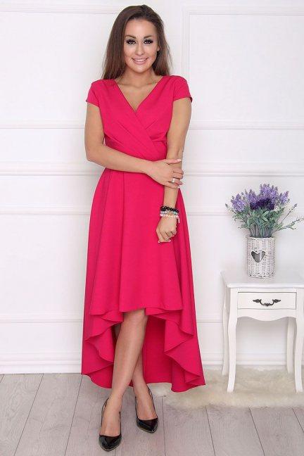 Sukienka damska asymetryczna fuksja