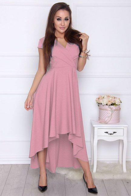 Sukienka damska asymetryczna różowa