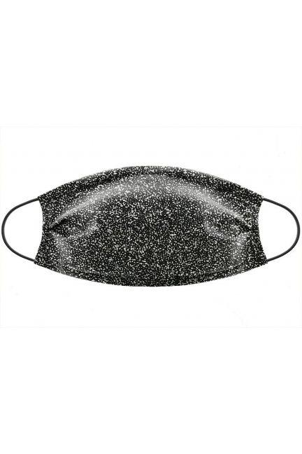 Maska bawełniana z brokatem czarna