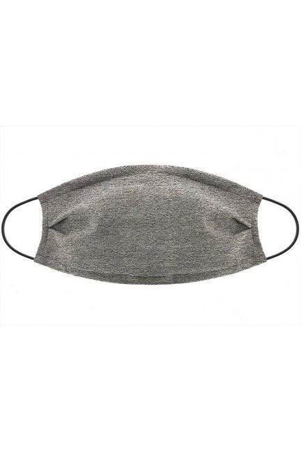 Maska wielokrotnego użytku brokat szara