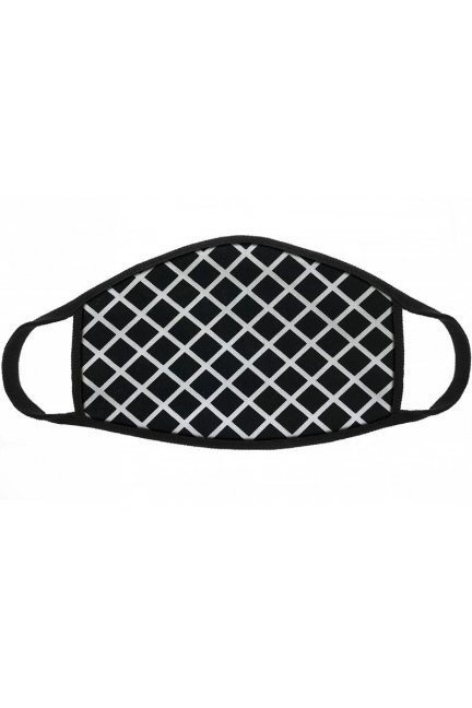 Maska sportowa nadruk kratka czarna