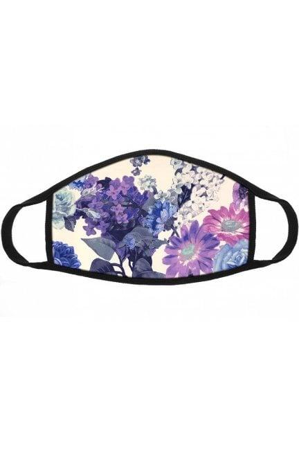 Maska ochronna wzór kwiatki niebieska