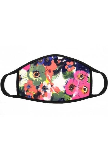 Maska wielorazowa w kwiatki różowa