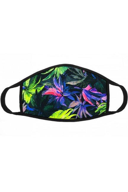 Maska sportowa wzór Tropical czarna