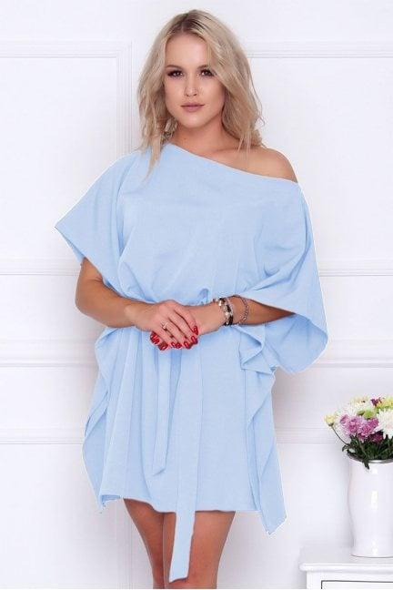 Sukienka wizytowa nietoperz błękitna