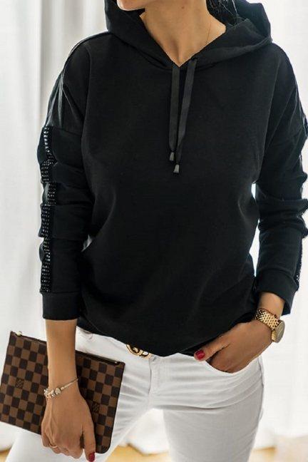 Bluza sportowa z kapturem czarna