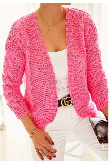 Sweter damski bomberka bolerko różowy