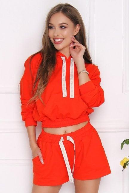 Komplet sportowy damski pomarańczowy