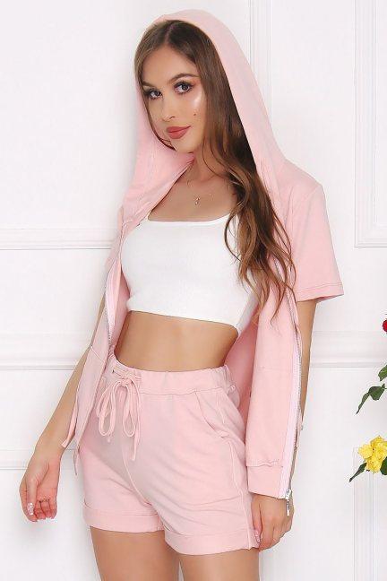 Komplet dresowy damski bawełna różowy