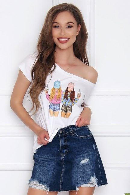 T-shirt damski bluzka Friends biała