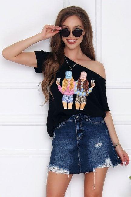 T-shirt damski bluzka Friends czarna