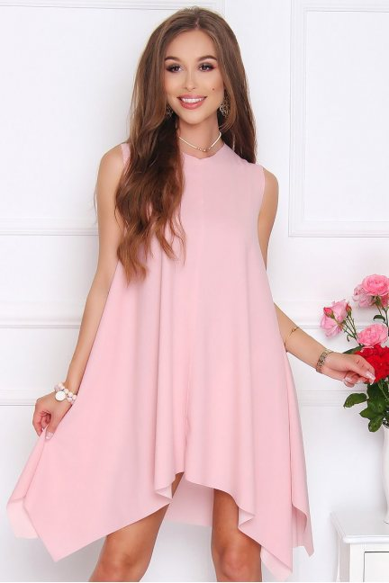 Sukienka koktajlowa VENUS pudrowy róż