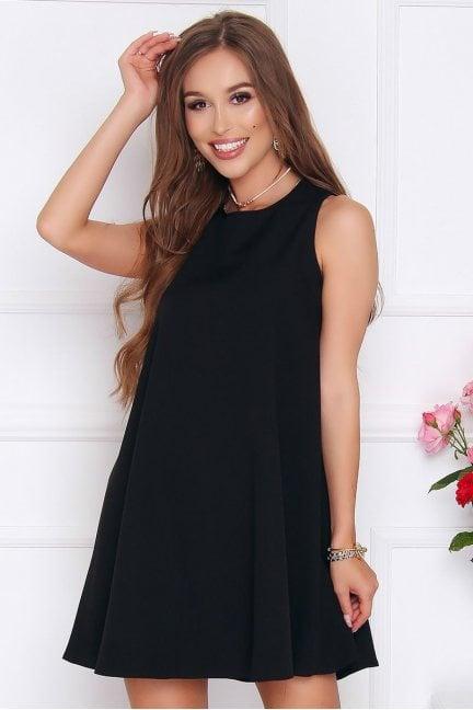 Sukienka rozkloszowana CM492 czarna