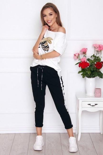 Spodnie sportowe z kieszeniami czarne
