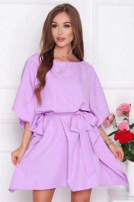 Sukienka wizytowa nietoperz fioletowa