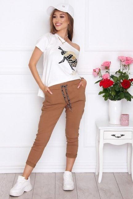 Spodnie damskie cygaretki camel