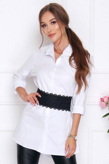 Koszula asymetryczna z guzikami biała