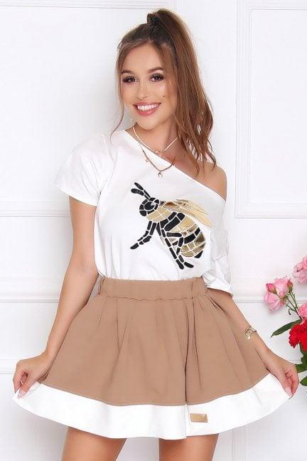 Spódnica damska rozkloszowana camel