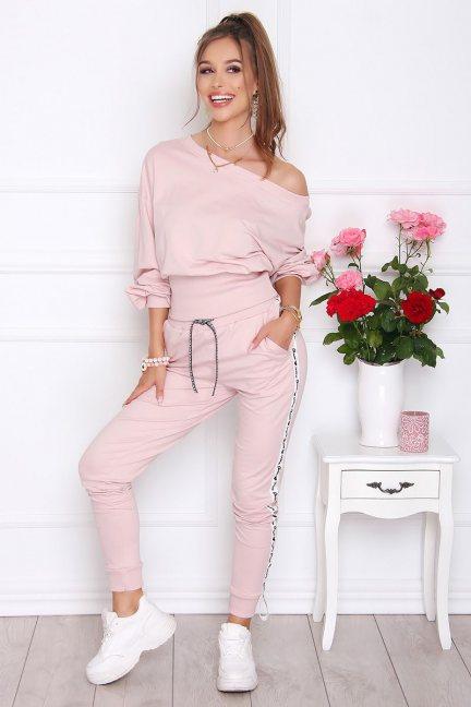 Dresy sportowe bluza ze spodniami różowe