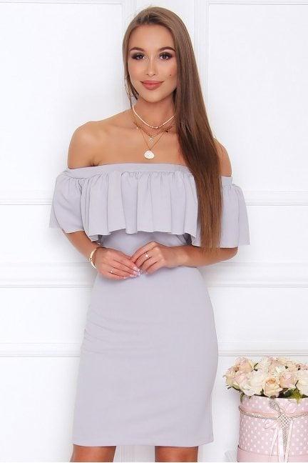 Sukienka hiszpanka mini CM581 szara