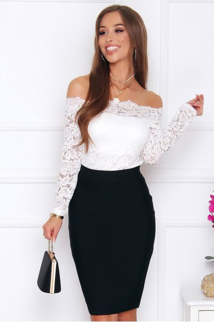 Spódnica elegancka dopasowana czarna