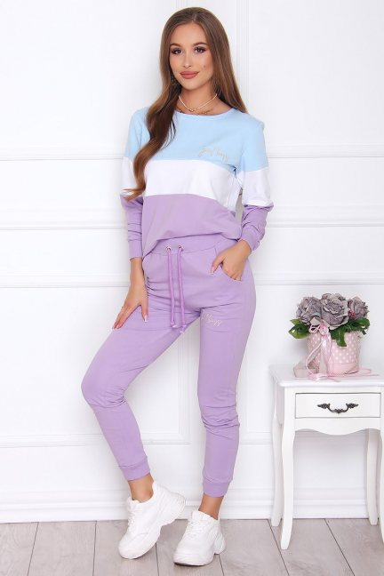 Dresy damskie kolorowe modne fioletowe