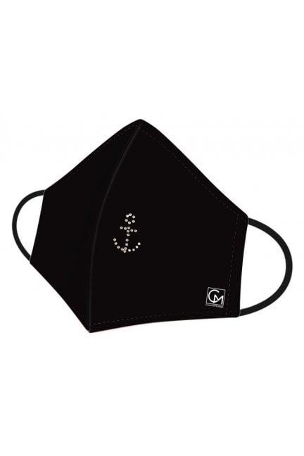 Maska profilowana nadruk kotwica czarna