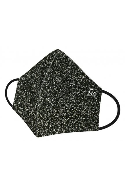 Maska profilowana brokatowa czarna